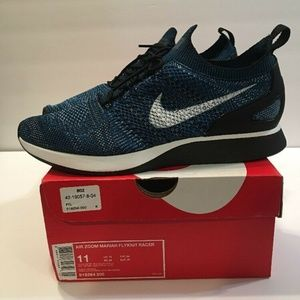 NIKE Mens Air Zoom Mariah Flyknit Green Abyss Blac